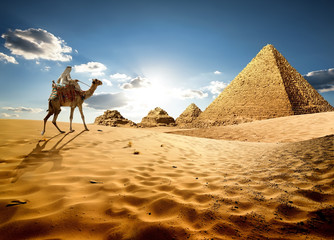 Photo sur cadre textile Egypte In sands of Egypt