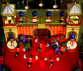 DANCERS PERFORM AT CHRISTMAS KICK-OFF CEREMONY IN HONG KONG.