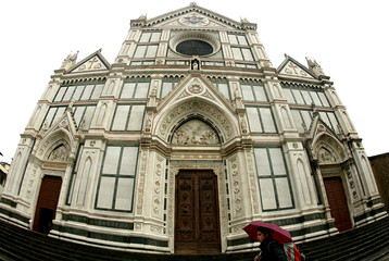 A view of Santa Croce in Florence, January 27, 2004...