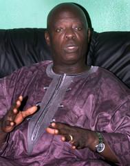 LIBERIAN PRESIDENT BLAH SPEAKS DURING INTERVIEW IN MONROVIA.