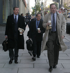 Special Counsel Patrick Fitzgerald arrives at his Washington office