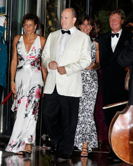 Prince Albert II of Monaco arrives with his sisters and Prince Ernst August of Hanover for the ...