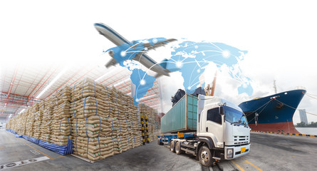 Logistics systems for import export business.