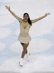 Fontana performs in the women's free program during the Figure Skating competition at the Winter Olympic Games