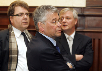 Former KBC Tax director Wyntin, former President Vermeiren and former Financial Director Bauduin appear before a Criminal Court in Brussels