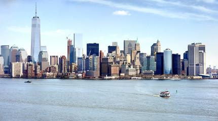 Famous New York City panorama