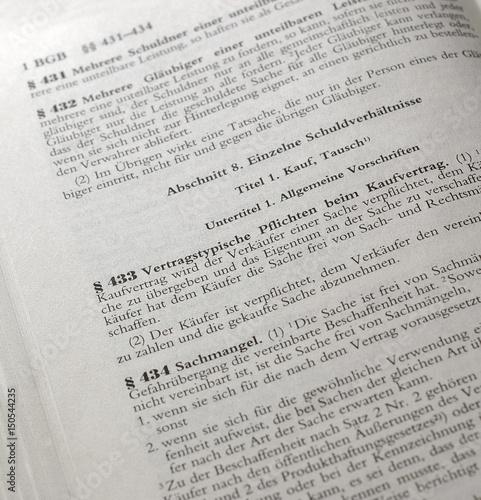Kaufvertrag 433 Gesetzestext Schrift Stockfotos Und Lizenzfreie