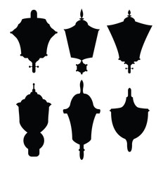 Decoration lamps silhouettes