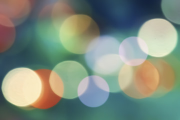 Colorful Bokeh Blur Background.