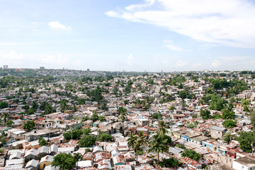 Slum area in Santo Domingo