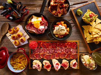 Tapas from Spain varied mix
