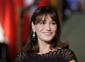 France's first lady Carla Bruni-Sarkozy arrives for a Cultural Event during the NATO summit at the Kurhaus in Baden-Baden