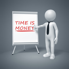 business man presenting time is money