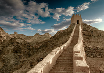 The Great Wall of Ming Dynasty in Jiayuguan, Gansu province of China.
