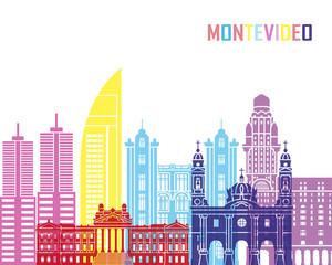Fototapete - Montevideo skyline pop