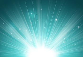 Dark blue glitter sparkles rays lights bokeh Festive Elegant abstract background.