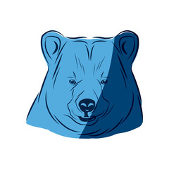 blue head bear animal free spirit symbol vector illustration