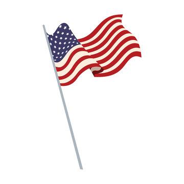 united states of america flag waving symbol national vector illustration