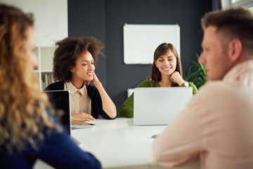 Young people in modern office