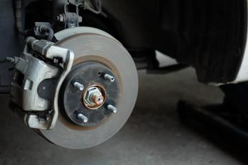 Wheel hub with disc break