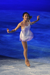 Zhang of the U.S.performs during the gala exhibition at Bompard Trophy event at Bercy in Paris
