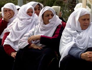 PALESTINAIN WOMEN ATTEND PROTEST IN GAZA STRIP.