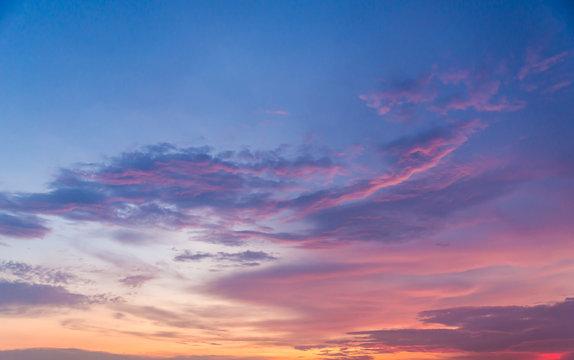 Beautiful sunset sky background