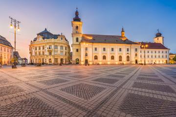 Wall Mural - Council Square Sibiu, Transylvania landmark, Romania