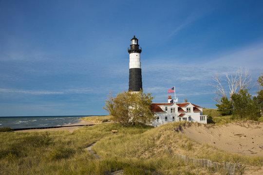 Big Sable Point Lighthouse on Lake Michigan, Mason County, Ludington, MI
