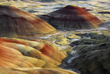 Painted Hills, sunset, John Day Fossil Beds National Monument, Mitchell, Oregon, USA