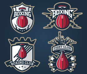 Boxing badges and labels