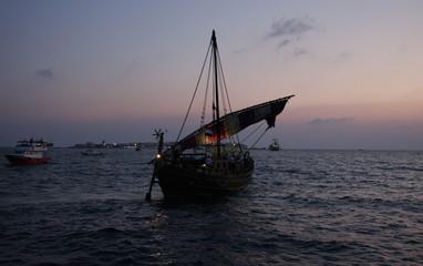 Ship modelled after Phoenician vessel departs Syrian Mediterranean island of Arwad