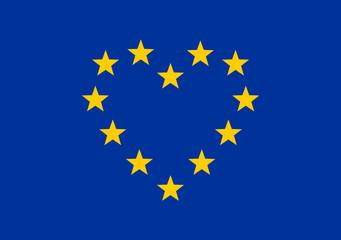 Europa Herz, Sterne, EU Symbol, Europäische Union, I love Europe