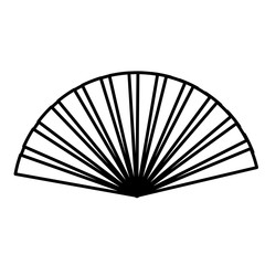 hand fan accessory icon over white background. vector illustration