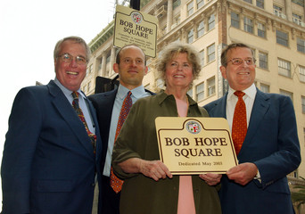 BOB HOPE SQUARE NAMED IN HONOR OF BOB HOPES 100TH BIRTHDAY.