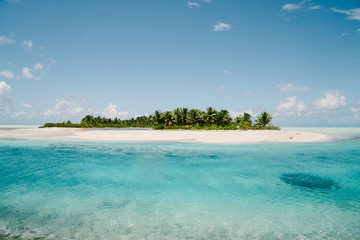 Island and coastline, Tahiti, South Pacific