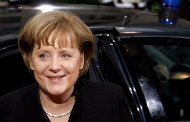 German Chancellor Angela Merkel arrives for a European summit in Brussels