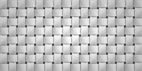 Volume realistic texture, wicker gray background, 3d geometric pattern, design vector wallpaper