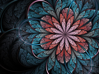 Fractal flower, digital artwork for creative graphic design