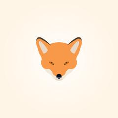 Illustration the head of a fox.