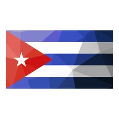 Cuba flag geometric design.
