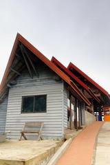 Commercial buildings-parking of Phou Khoun viewpoint. Nnal.rd.13-Luang Prabang province-Laos. 4518