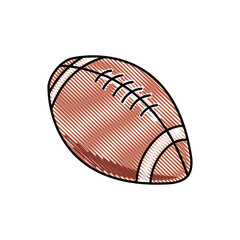 drawing american football ball sport competition element vector illustration