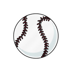 drawing baseball ball sport competition element vector illustration