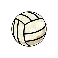 drawing volleyball ball sport competition element vector illustration