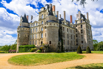 mysterious castles of France - Chateau de Brissac ,Loire valley