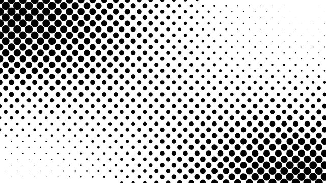 Abstract halftone pattern texture. Background is black and white
