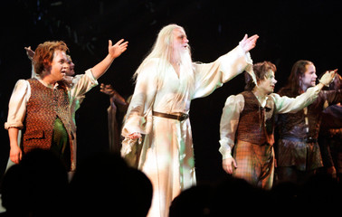'The Lord Of The Rings' actors take their curtain call after their world premiere performance in Toronto