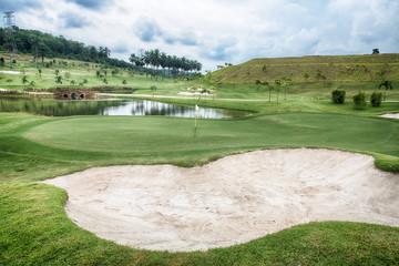 Fotobehang Golf Golf Bunker at the golf course