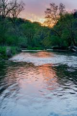 Foto op Canvas Bestsellers Kinnickinnic River Sunset
